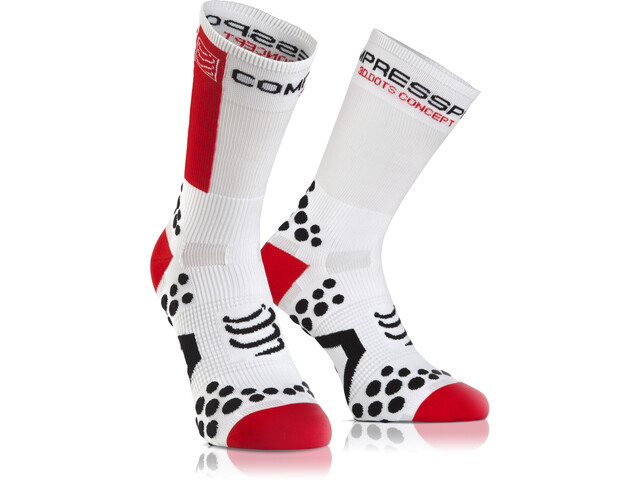 Compressport Racing V2.1 Bike High Socks white/red